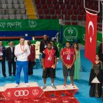 Roberto Cammarelle with the SuperHeavy Weights Gold Medal during the Mersin 2013 Boxing Tournament Awarding Ceremony - Ph Giulietti