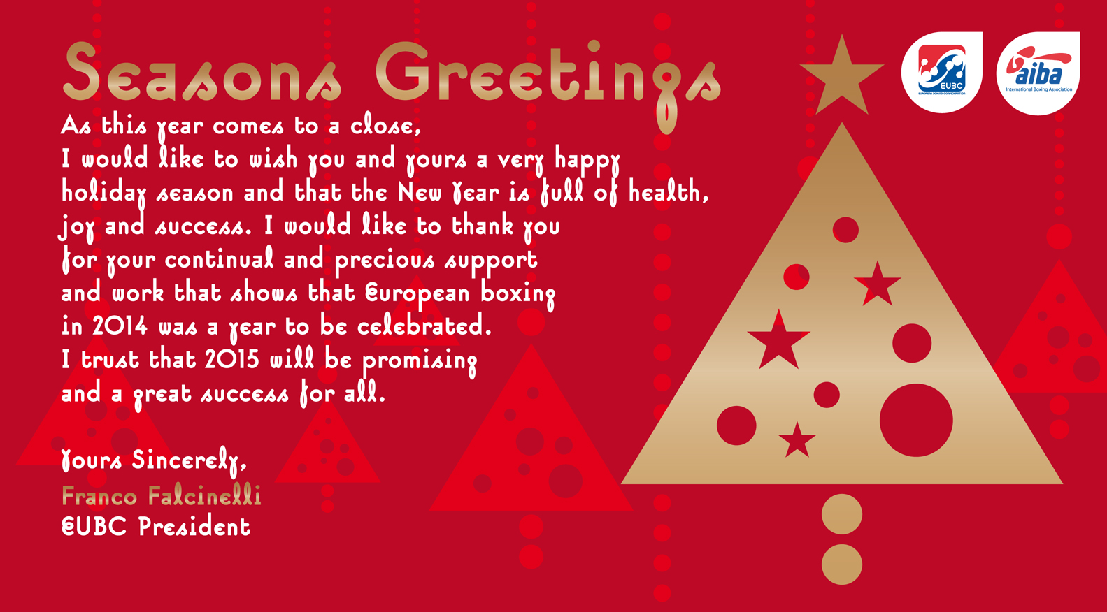 eubc office closed for the holiday season from december 24th to january 12th european boxing. Black Bedroom Furniture Sets. Home Design Ideas