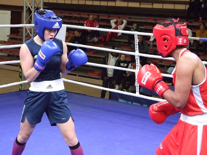 Russia's EUBC European Junior Champion Elena Zhilyayeva was the hero of the  day at the Nations Women's Cup